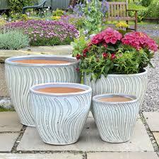 glazed pottery large plant pots for