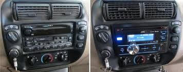 doug f's 2001 ford explorer 2001 Ford Explorer 2 Din Radio Wiring Diagram doug's factory stereo (left) and new, great sounding jvc receiver (right) 1998 Ford Explorer Radio Wiring Diagram