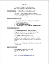 Gallery Of Architecture Resume Occupational Examples Samples Free