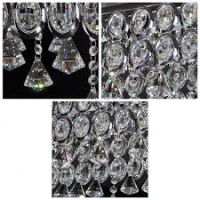 clear crystal beads and drops create sparkling and dramatic chandelier pendant
