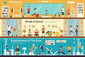 Break Gym Stock Illustrations 203 Break Gym Stock