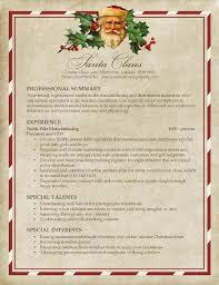 Santa's Resume   Pongo Blog