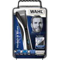 Wahl <b>Rechargeable LCD</b> Cord/<b>Cordless Hair</b> Clipper & Beard Kit ...