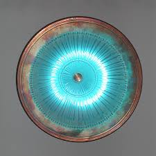 contemporary modern wall sconce neo-Antique glass & copper