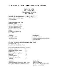 High School Resume For College Beauteous High School Resume For College Application Awesome College Junior