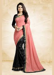 Shree Designer Saree Prodigious Embroidered Ceremonial Half N Half Designer