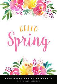 Free Spring Hello Spring Free 8x10 Printable Free Printable Designer Blogs