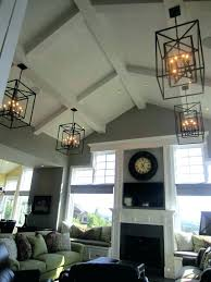 cathedral ceiling lighting ideas chandelier for tall ceilings and best vaulted on model suggestions