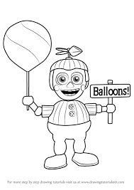 Five Nights At Freddys Coloring Pages Balloon Boy Printable