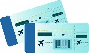 Free Tiket Airplane Ticket Icons Horizontal Rectangular Design