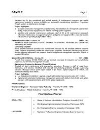 Resume Samples For Engineers Resume Samples