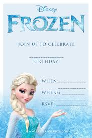 E Invites For Birthday 20 Frozen Birthday Party Ideas Frozen Party Invitations