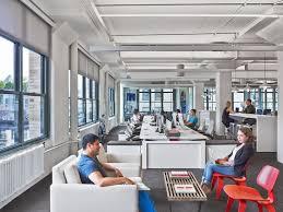 modern open plan interior office space. havas new york city advertising offices open plan breakout soft seating modern interior office space