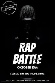 flyer rap free rap battle flyer template postermywall