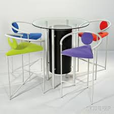 memphis style furniture. Memphis-style High Table And Four Chairs Memphis Style Furniture