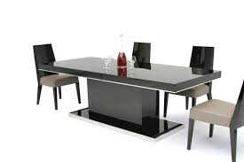 modern black round dining table. Table Modern Noble Lacquer Dining Black Gloss And 6 Chairs White Twist Round E