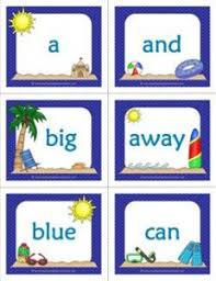 Summer Themed Dolch Sight Word Flashcards Pre Primer A