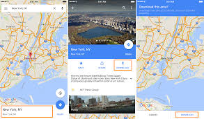 how to download areas in google maps for offline use