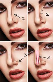 how to get thinner nose with makeup step