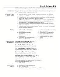 Comfortable Resume For Rn Template Contemporary Resume Ideas
