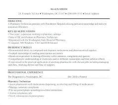 Pharmacy Technician Trainee Resume Objective Pharmacist Letsdeliver Co