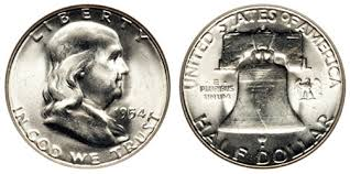 Franklin Half Dollar 1948 1963 Silver Coin Melt Values