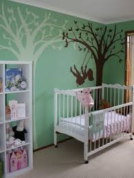extraordinary home interior decoration design ideas using elephant wall murals minimalist baby nursery room decoration
