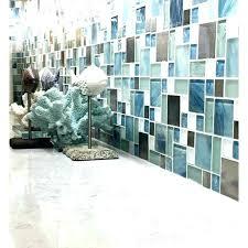 mosaic tile backsplash bathroom designs blue green glass metal sea white kitchen bath p