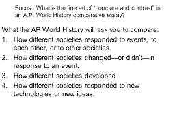 a p response section there are types of essays you will 3 focus
