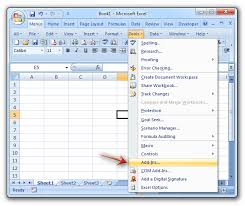 Where Is Add Ins In Microsoft Excel 2007 2010 2013 2016