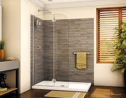 glass shower screen with curved edges in a double sided acrylic base innovate building solutions