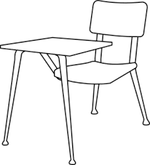 desk clipart black and white. Sweet Chairs Clipart Black And White Chair Clip Art At Clker Com Vector Online Royalty Free Desk C
