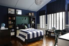Cute and Colorful Little Boy Bedroom Ideas : Blue And White Striped Boys  Room With Silver