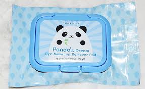 the tony moly panda s dream eye makeup remover pads are circular 100 cotton rounds pre soaked in makeup remover liquid i think these are perfect for those