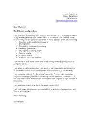 Aged Care Kitchen Hand Cover Letter Cover Letter
