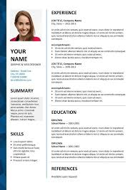 Download Free Modern Resume Templates For Word Great Cv Cv Resume Template Free Resume Format
