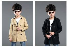 boys black trench coat fashion boys jacket spring autumn kids trench coat children double ted trench boys black trench coat