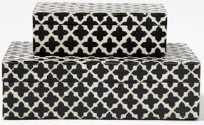 Black And White Decorative Boxes Patterns Decorative Boxes 2