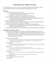 army to civilian resumes military resume 8 free word pdf documents download free