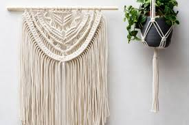 macrame wall hangings plant hangers or diy