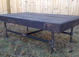 diy pallet iron pipe. Recycled Pallet And Metal Coffee Table Diy Iron Pipe L