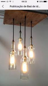 mason jar lighting diy. Recycled Wine Bottle Chandelier - *This Item Was Featured On The Front Page Of ETSY!* This Unique Rustic Cottage Style Is Handmade And Stained A Mason Jar Lighting Diy