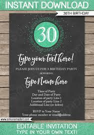30th birthday invitations template save