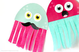Free Craft Printables Templates Free Printable Jellyfish Kid Craft Printable Crush
