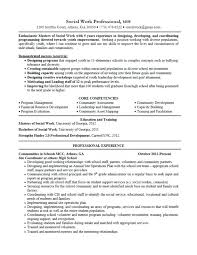 Sample Resume For Social Worker Position Resume For First Job