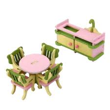 cheap wooden dollhouse furniture. Buy Magideal Dollhouse Miniature Furniture Wooden Toy Kids Dinning Room Set Online At Low Prices In India - Amazon.in Cheap T