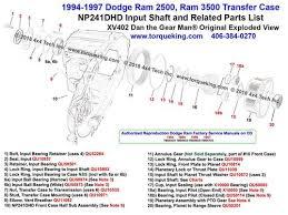 Xv402 1994 1997 Dodge Ram Np241dhd Transfer Case Input Shaft