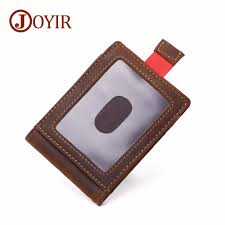 2019 joyir brand designer men money clips 100 cow leather portfolio men wallets open clamp for money purse card pocket for male from whatless