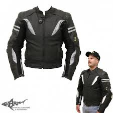 shark stunt air leather jacket