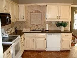 painted kitchen cabinets with white appliances. Antique (painted And Stained) Cabinets With White Appliances. I Love The Tile Design Backsplash. Painted Kitchen Appliances